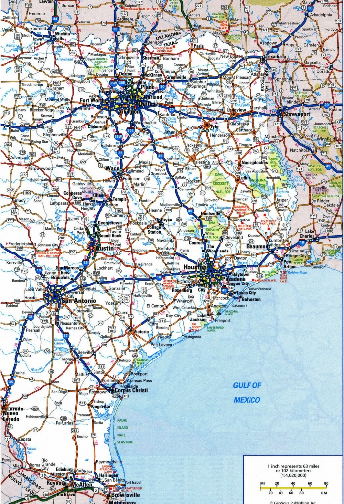 Road Map Of Texas Highways And Travel Information | Download Free - Free Texas Highway Map