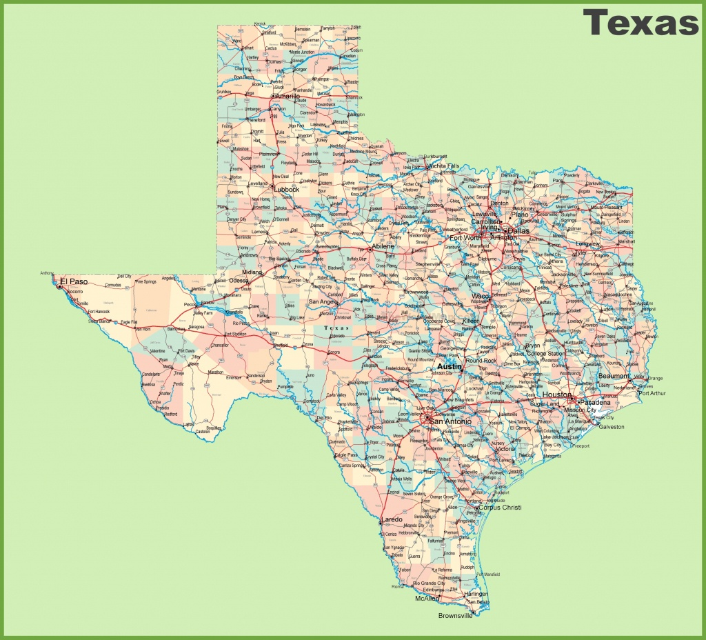 Road Map Of Texas With Cities - Road Map Of Texas Highways