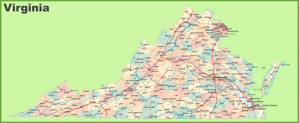 Road Map Of Virginia With Cities - Virginia State Map Printable