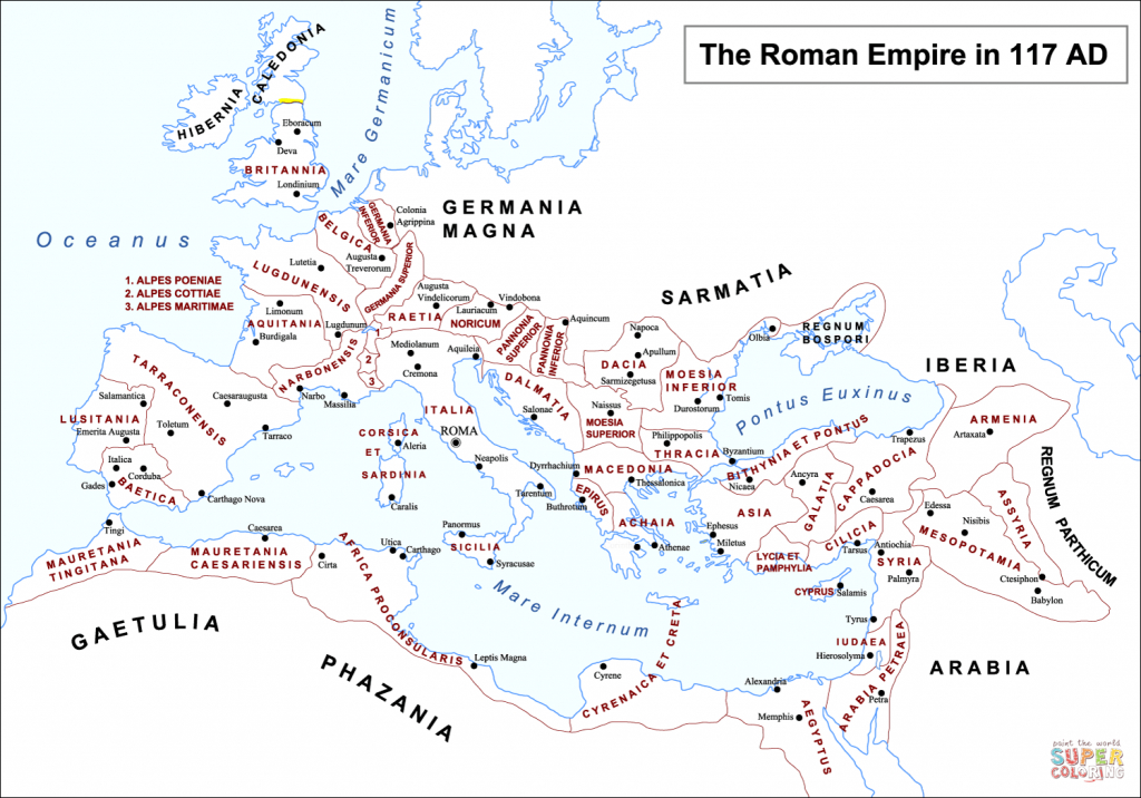 Roman Empire Map Coloring Page | Free Printable Coloring Pages - Roman Empire Map For Kids Printable Map