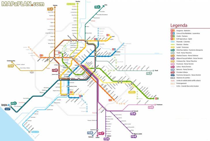 Printable Rome Metro Map