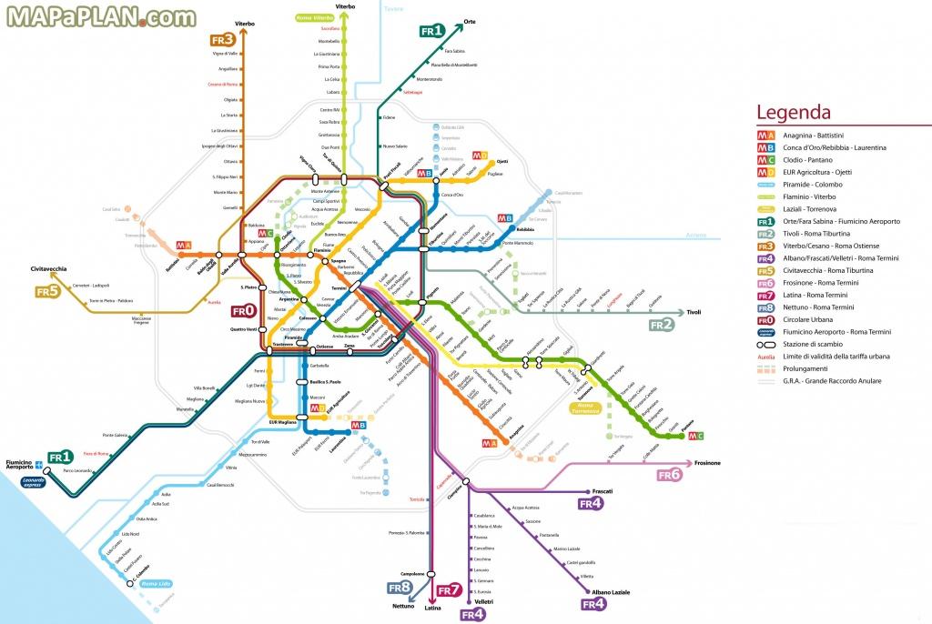 Rome Italy Metro Map | Woestenhoeve - Printable Rome Metro Map