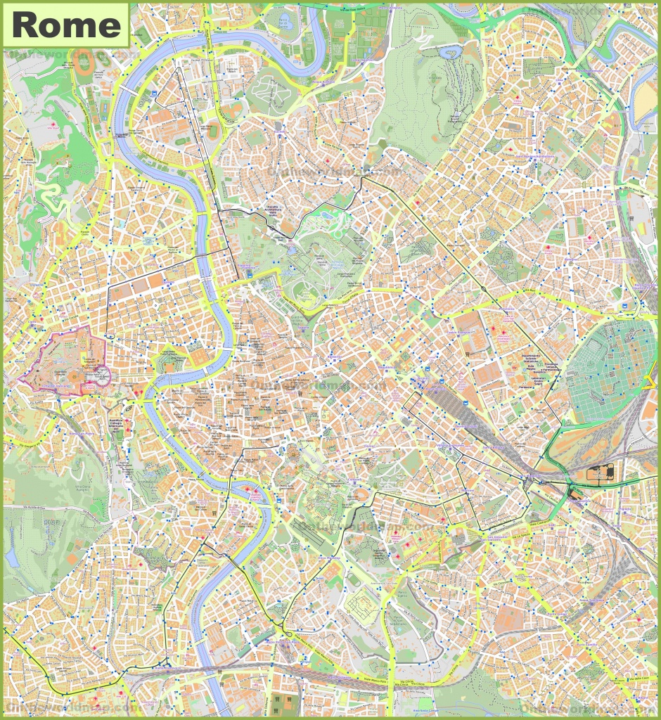 Rome Maps | Italy | Maps Of Rome (Roma) - Street Map Rome City Centre Printable