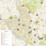 Rome Printable Tourist Map | Sygic Travel   Central Rome Map Printable
