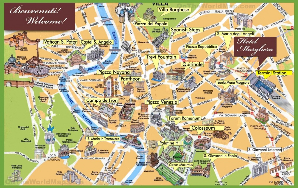 Rome Sightseeing Map | Italy In 2019 | Rome Itinerary, Rome - Rome Sightseeing Map Printable
