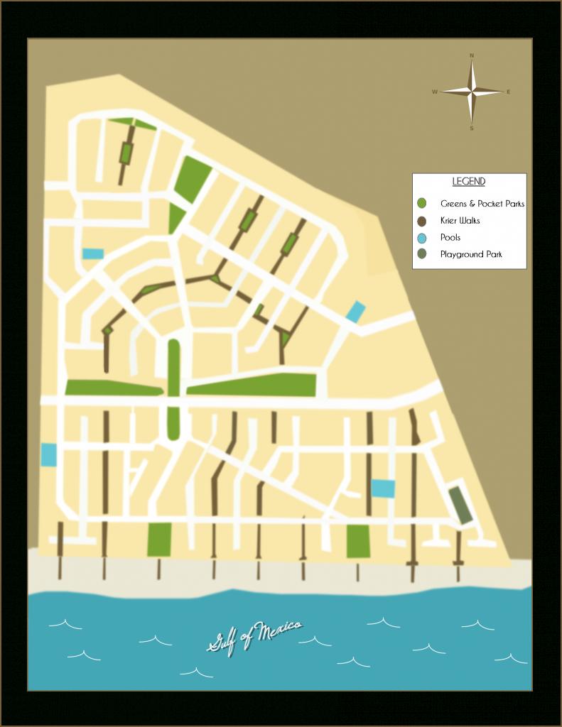 """Rosemary Beach Florida - Neighborhood Parks And """"Krier"""" Walks - Where Is Seagrove Beach Florida On A Map"""