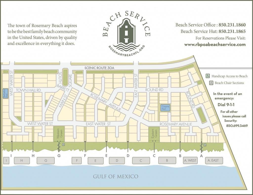 Rosemary Beach Walkovers | Rosemary Beach Service - Rosemary Beach Florida Map
