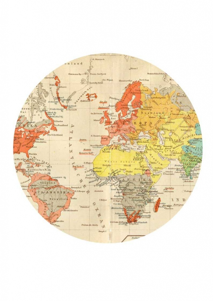 Round Map For World Clock Hack   C: World And History   World Map - Round World Map Printable