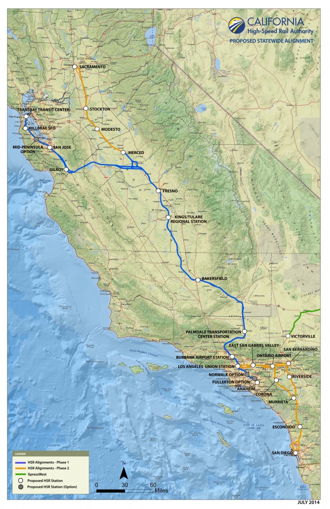 Route Of California High-Speed Rail - Wikipedia - Fast Track Map California