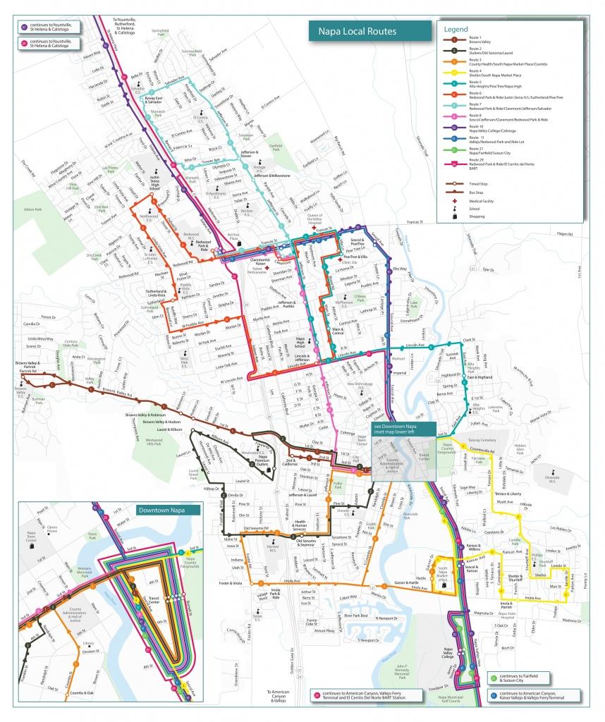 Routes & Schedules | Vine Transit - California 511 Map