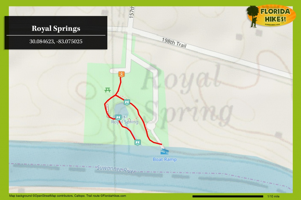 Royal Springs | Florida Hikes! - Natural Springs Florida Map
