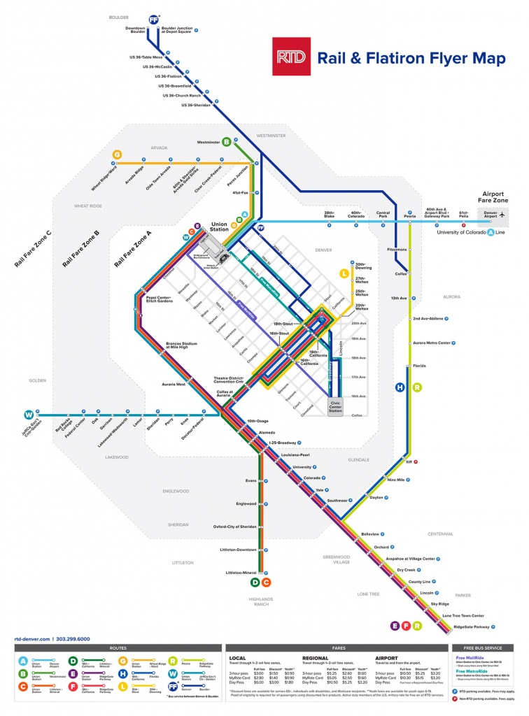 Rtd | Light Rail System Map - Free Printable Direction Maps