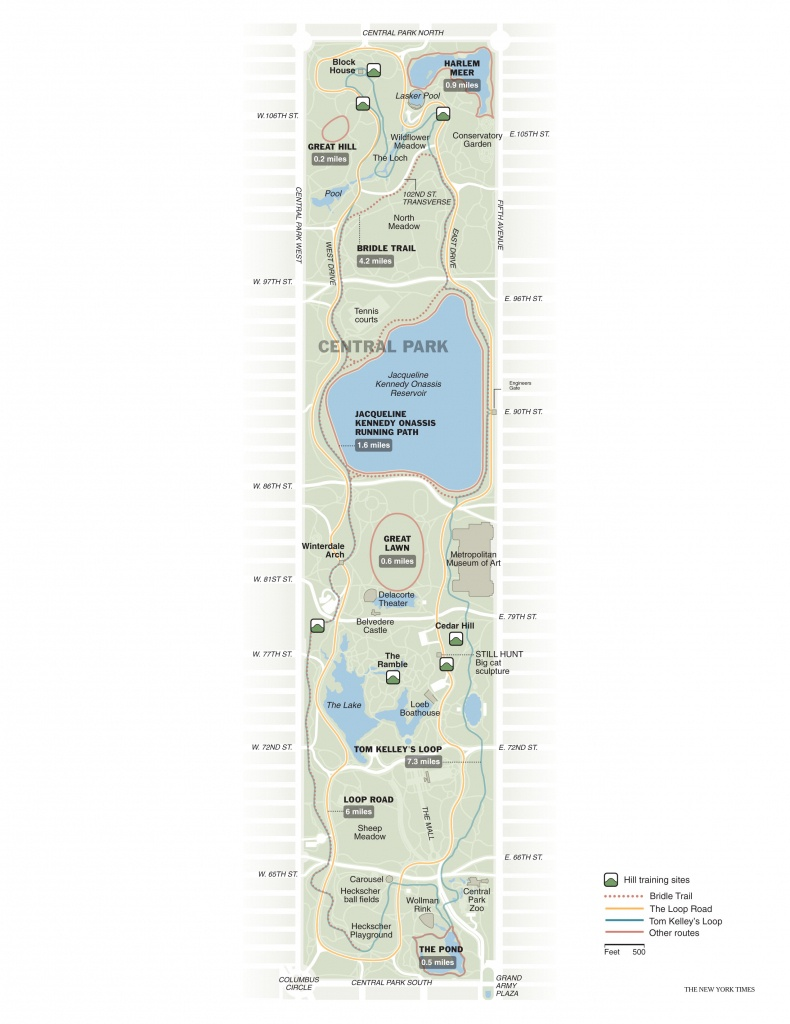 Running In Central Park   Free Toursfoot - Printable Map Of Central Park New York