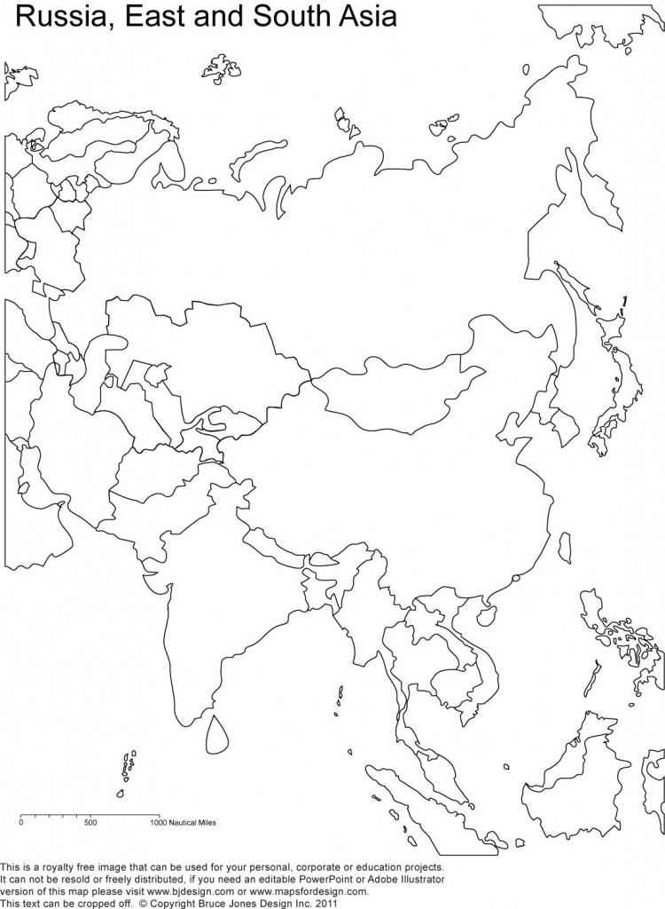 Russia And Asia, Blank Printable Map, Royalty Free | Geography | Map - Free Printable Map Of Russia