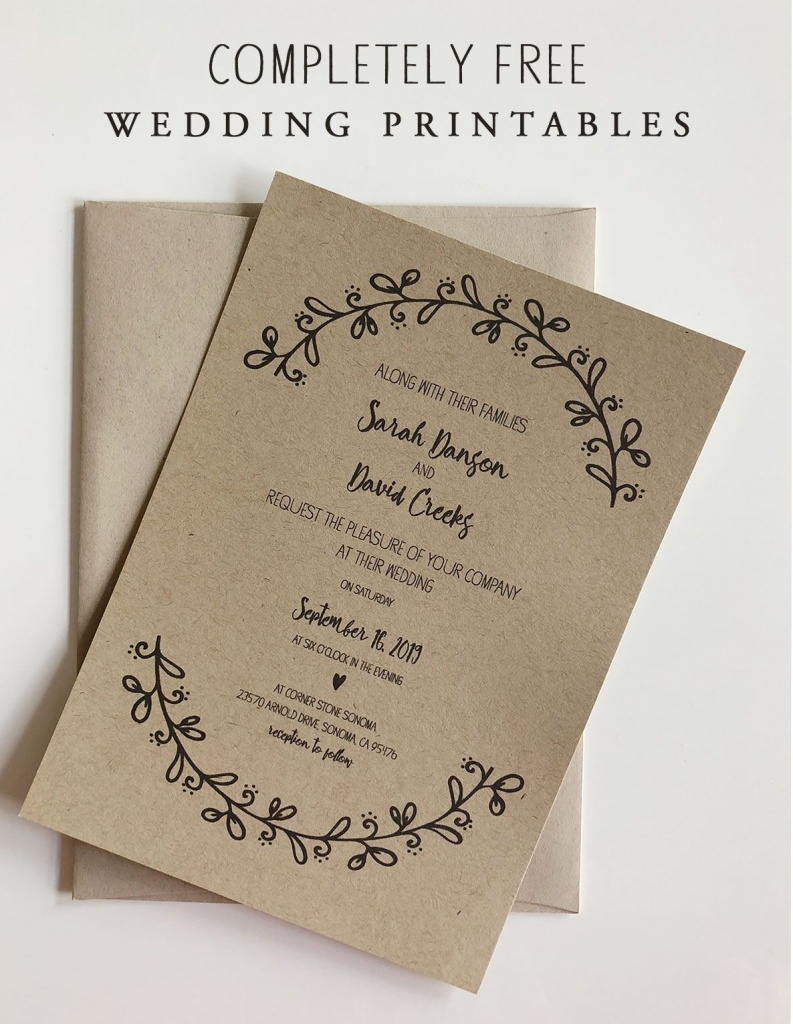 Rustic Floral Wedding Invitation With Rsvp & Maps | Wedding | Free - Maps For Wedding Invitations Free Printable