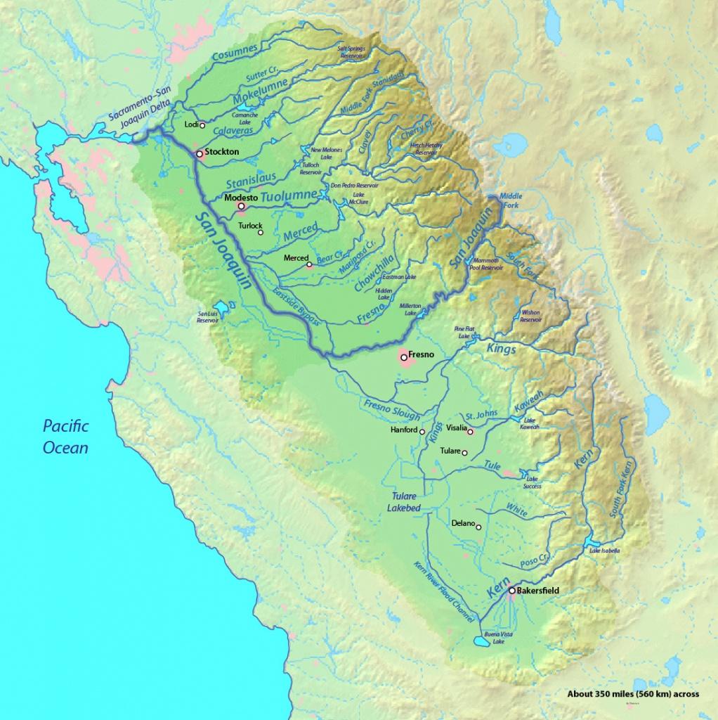 Sacramento And San Joaquin Rivers | American Rivers - California Rivers Map