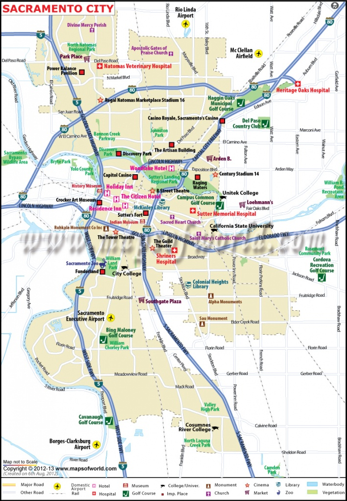 Sacramento City Map, Ca - The Capital Of California - Google Maps Sacramento California