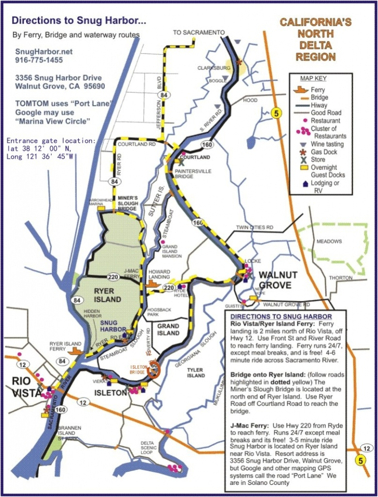 Sacramento Delta Map Throughout Walnut California - Touran - Walnut California Map