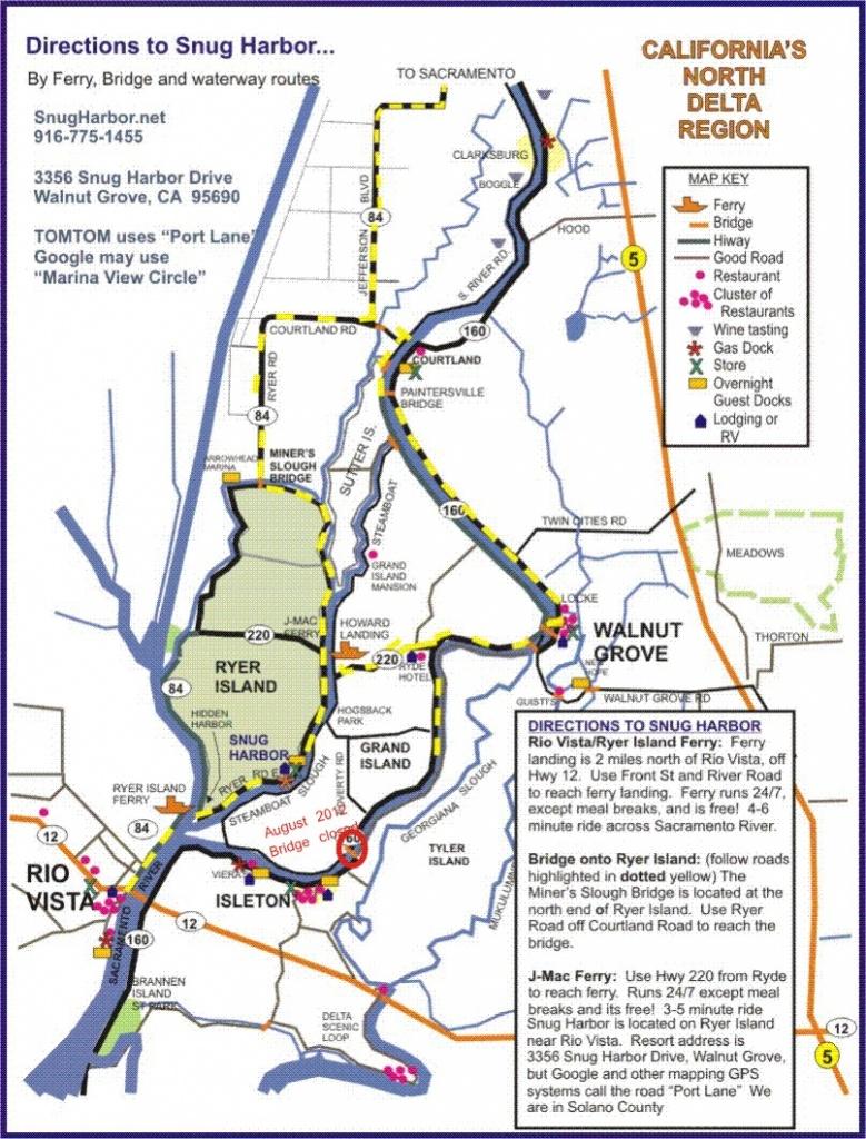 Sacramento River - Northern California Fishing Map