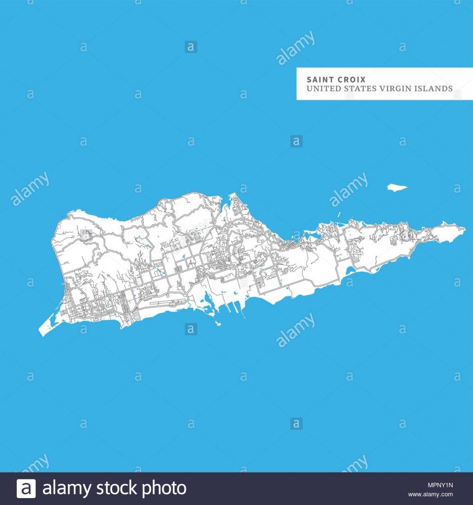 Saint Croix Printable Map Stock Photos & Saint Croix Printable Map - Printable Map Of St Croix