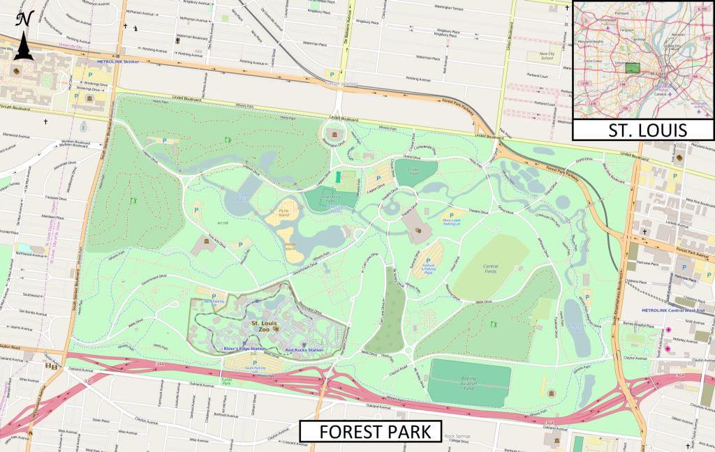 Saint Louis Art Museum - Wikipedia - Forest Park St Louis Map Printable