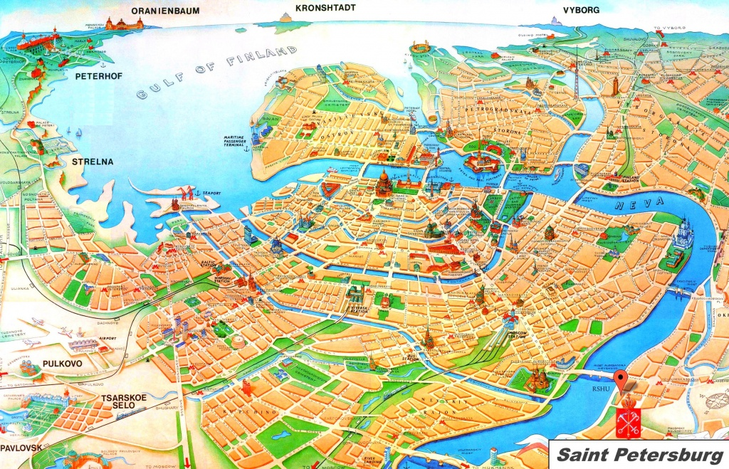 Saint Petersburg Tourist Map - Printable Tourist Map Of St Petersburg Russia