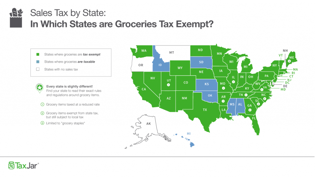 Sales Taxstate: Are Grocery Items Taxable? - Florida Property Tax Map