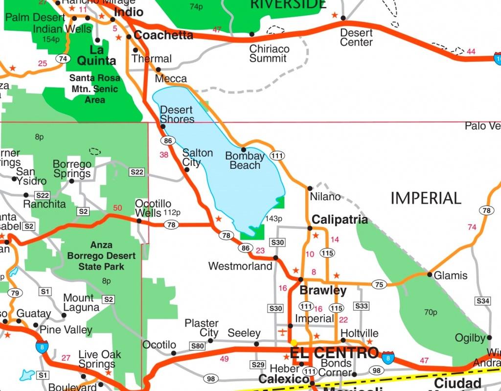 Salton Sea Road Map - Salton Sea California Map
