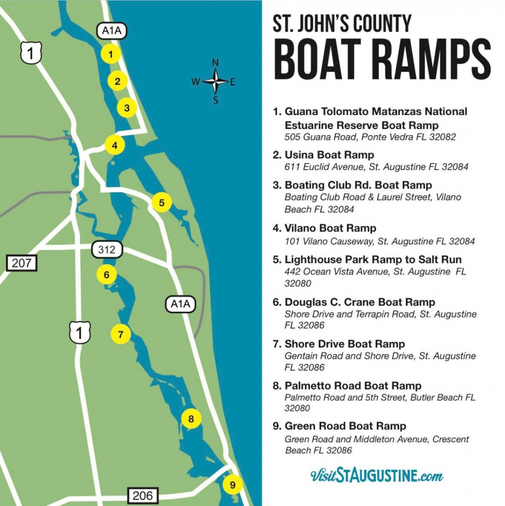 Saltwater & Freshwater Fishing In St. Augustine, Fl - Map Of Crescent Beach Florida
