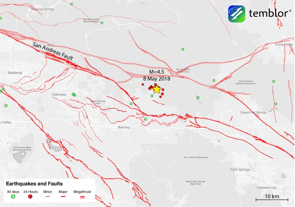 San Andreas Fault Zone Earthquake Rattles Southern California - Map Of The San Andreas Fault In Southern California