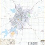 San Angelo, Tx Wall Map – Kappa Map Group   Street Map Of San Angelo Texas