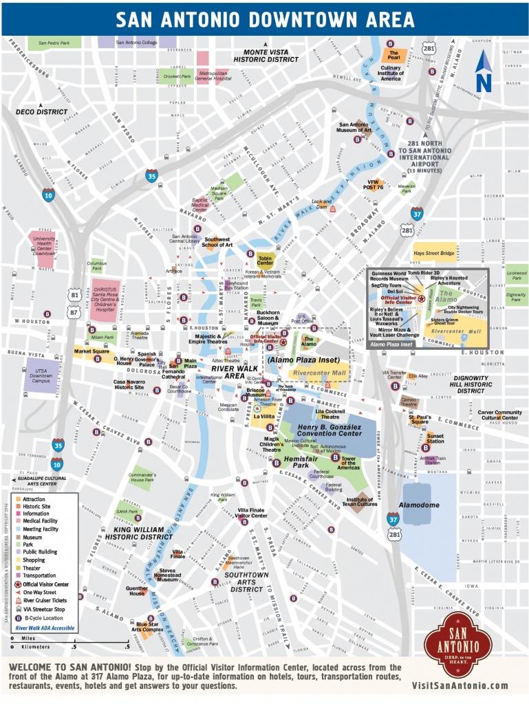 San Antonio Maps | Texas, U.s. | Maps Of San Antonio - Printable Map Of San Antonio