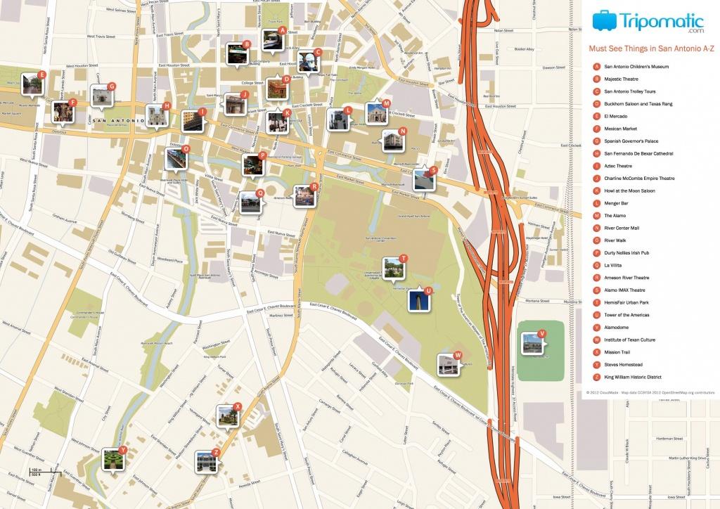 San Antonio Printable Tourist Map | Free Tourist Maps ✈ | San - Printable Map Of San Antonio