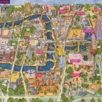 San Antonio River Walk Map   Around San Antonio   San Antonio Texas   Map Of Hotels Near Riverwalk In San Antonio Texas