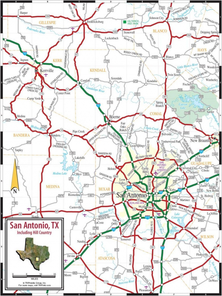San Antonio Road Map - Road Map Of San Antonio Texas (Texas - Usa) - Detailed Map Of San Antonio Texas