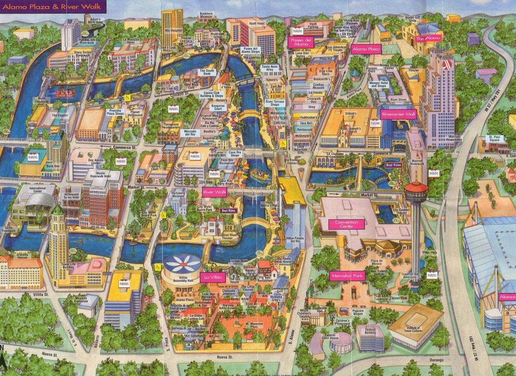 San Antonio | San Antonio, Texas Tourist Map See Map Details From - Map Of Downtown San Antonio Texas