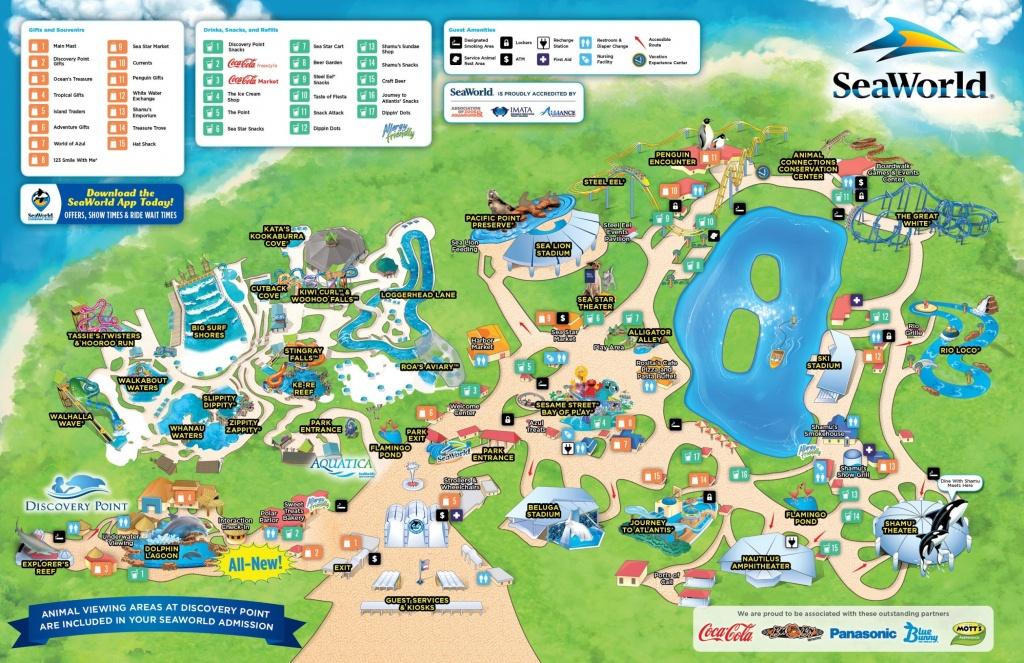 San Antonio Seaworld Map Sea World 4 - World Wide Maps - Seaworld Orlando Map 2017 Printable