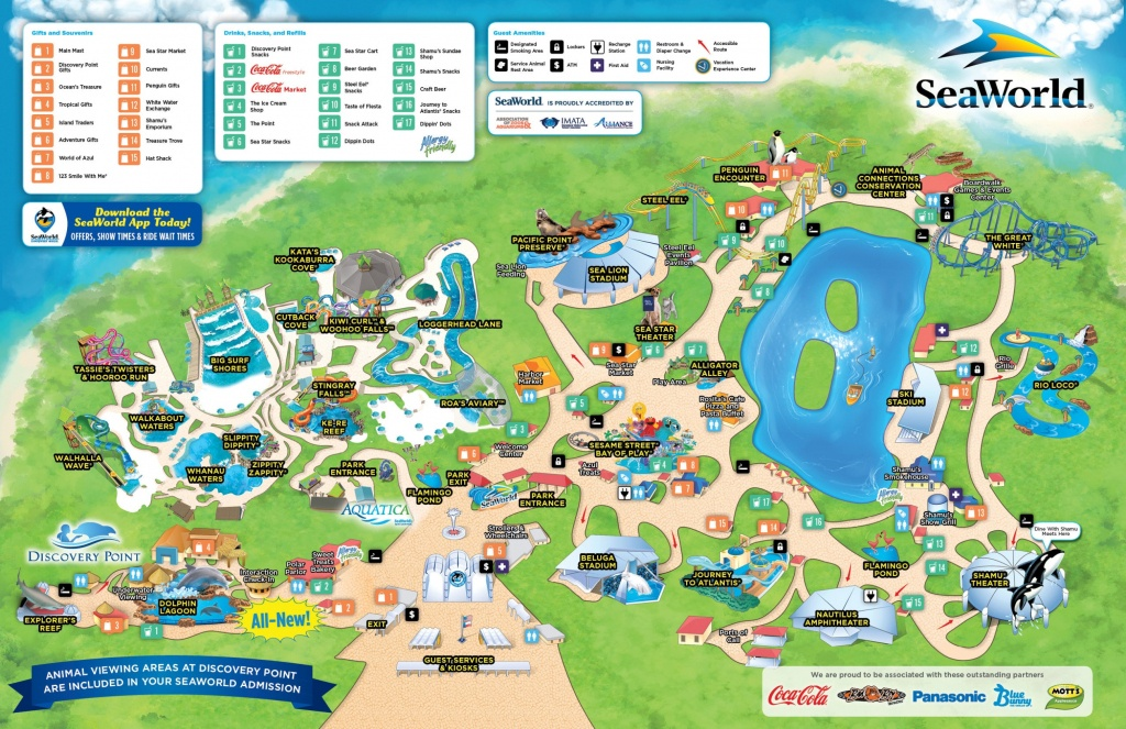 San Antonio Seaworld Map - Seaworld California Map