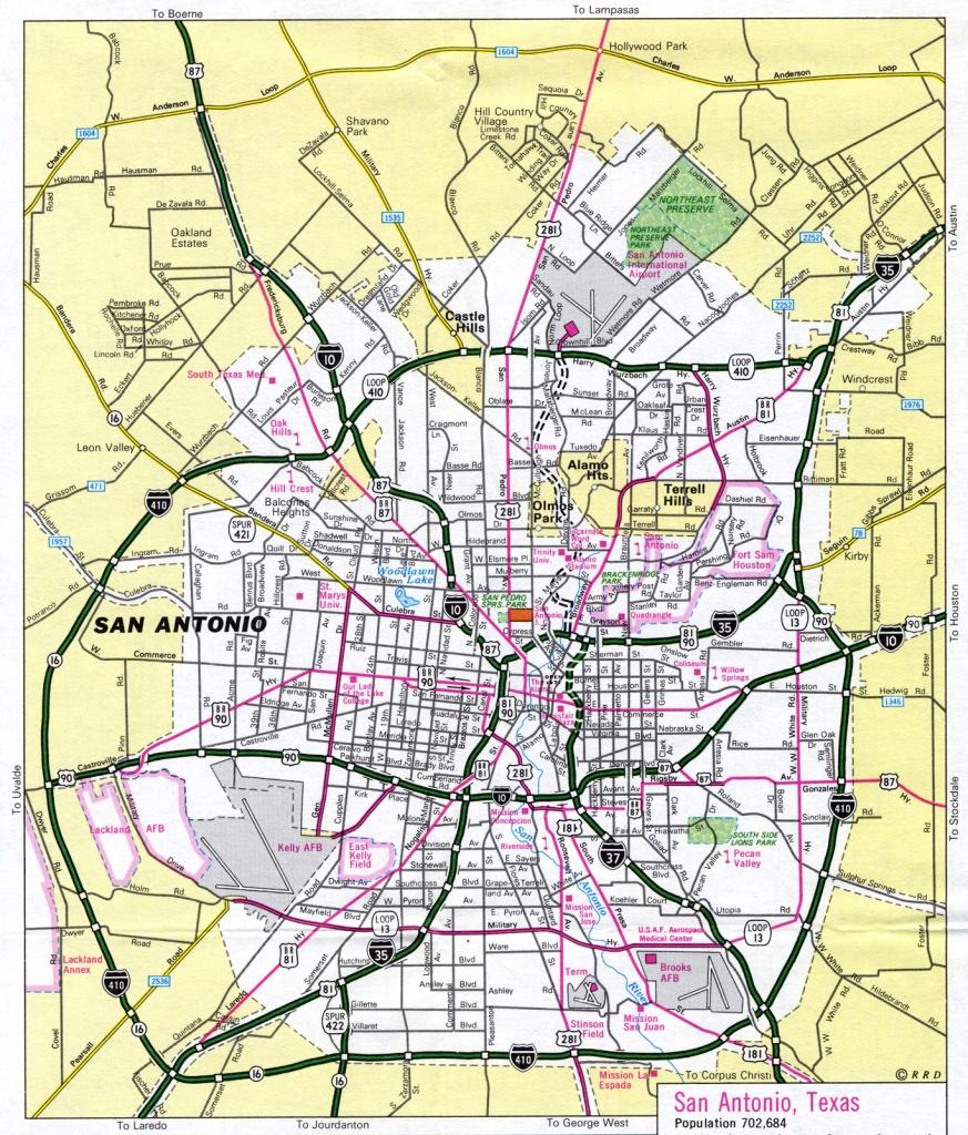 San Antonio Texas Tourist Map - San Antonio Texas • Mappery - Map Of San Antonio Texas And Surrounding Area