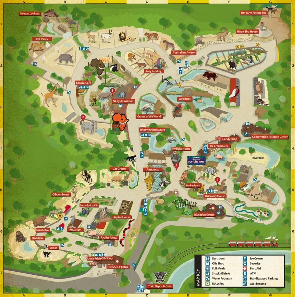 San Antonio Zoo - Maplets - Texas State Aquarium Map
