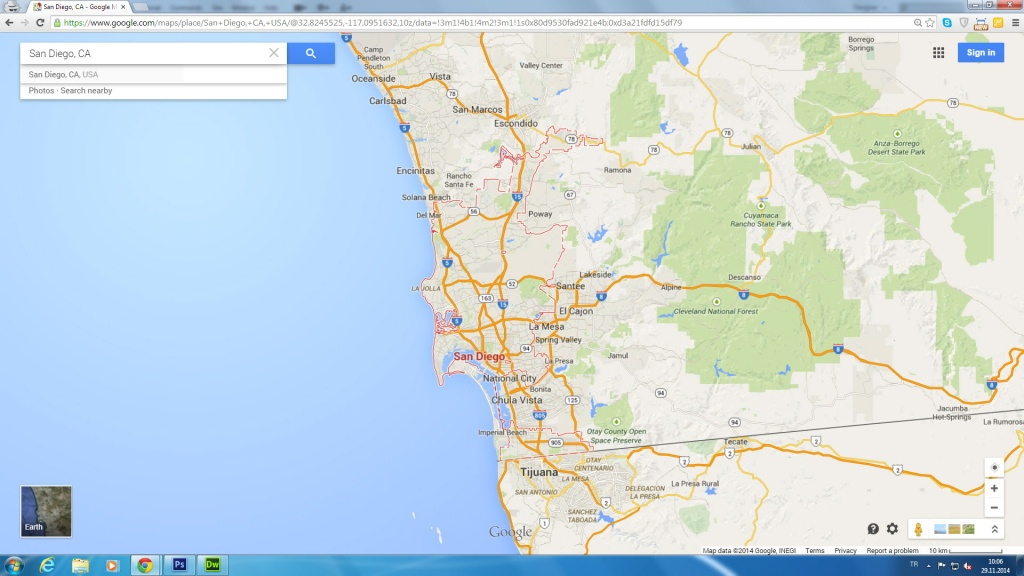 San Diego, California Map - Google Maps San Diego California