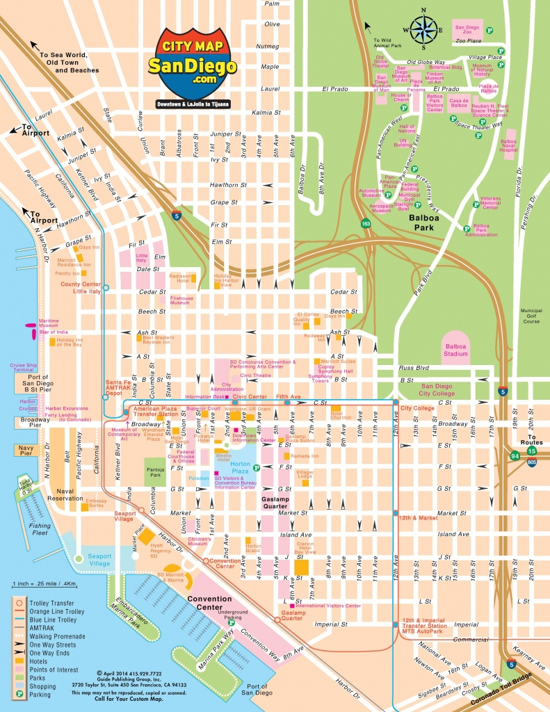 San Diego City Map - City Of San Diego Map (California - Usa) - City Map Of San Diego California