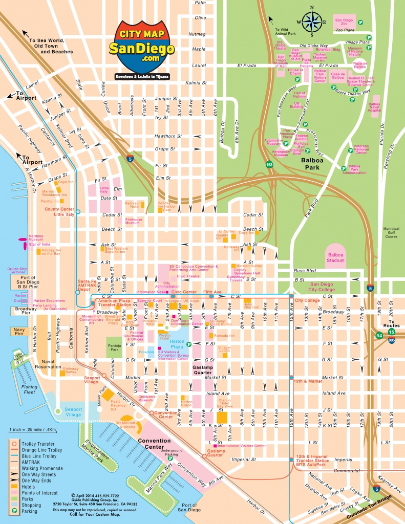 San Diego Map For Visitors - San Diego Attractions Map Printable
