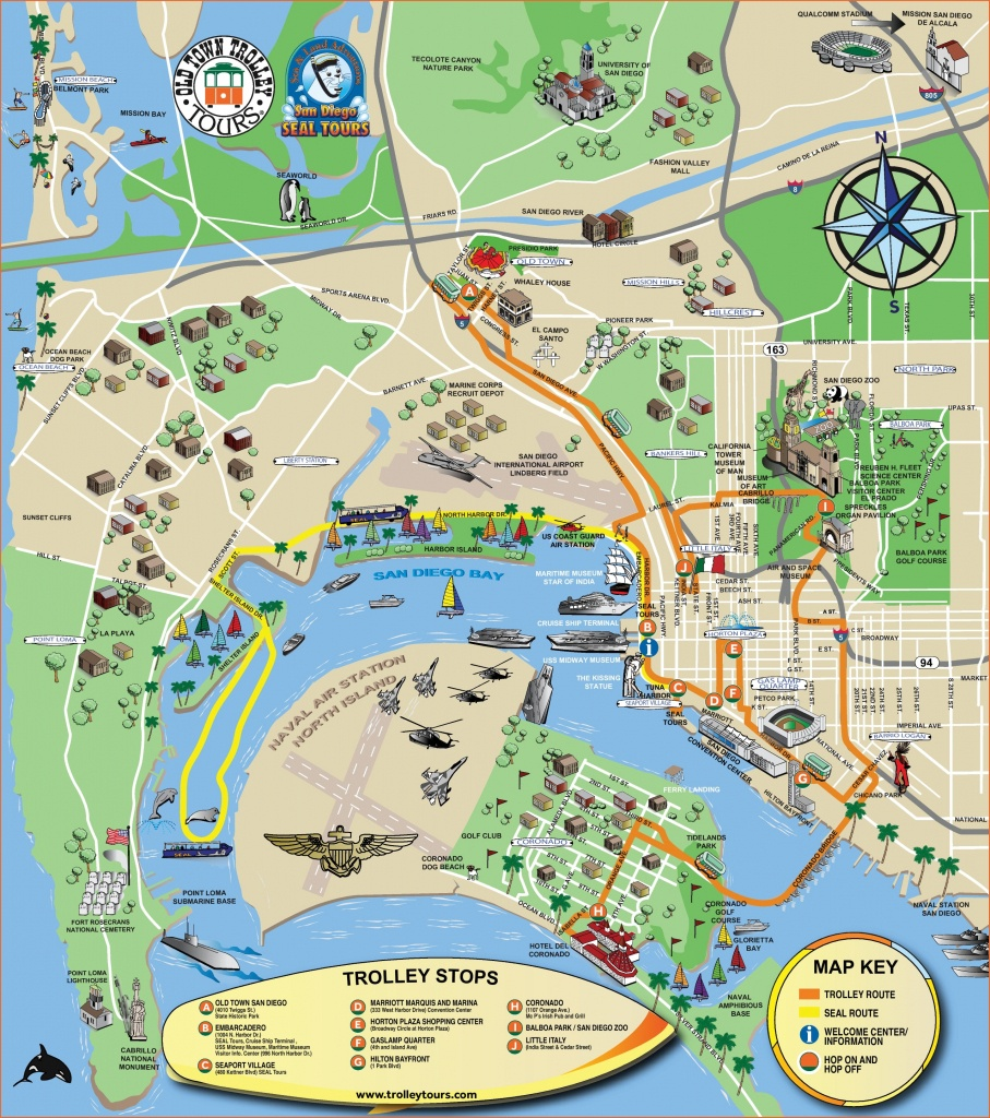 San Diego Tourist Attractions Map - Printable Map Of San Diego