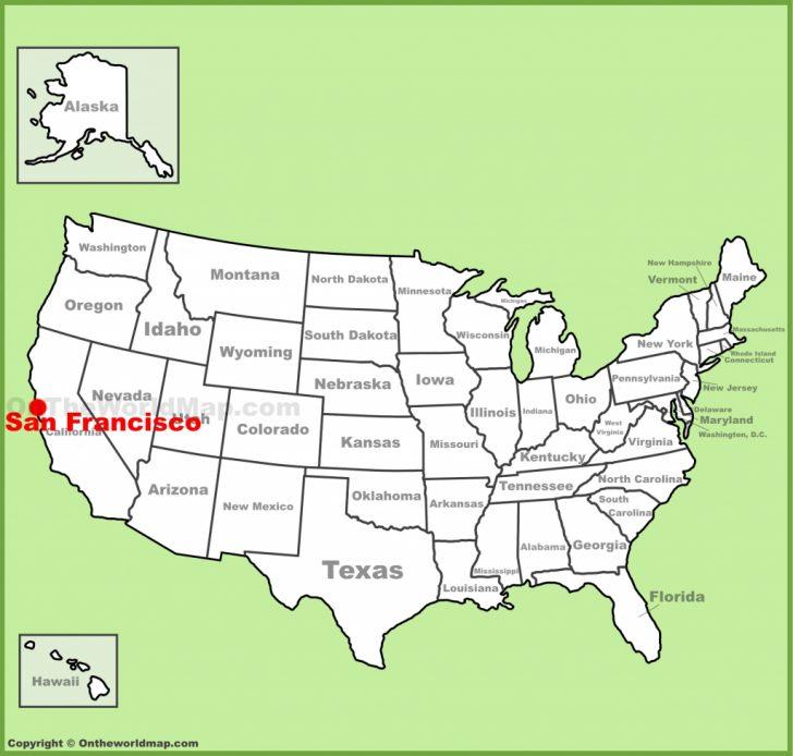 Map Of San Francisco California Usa