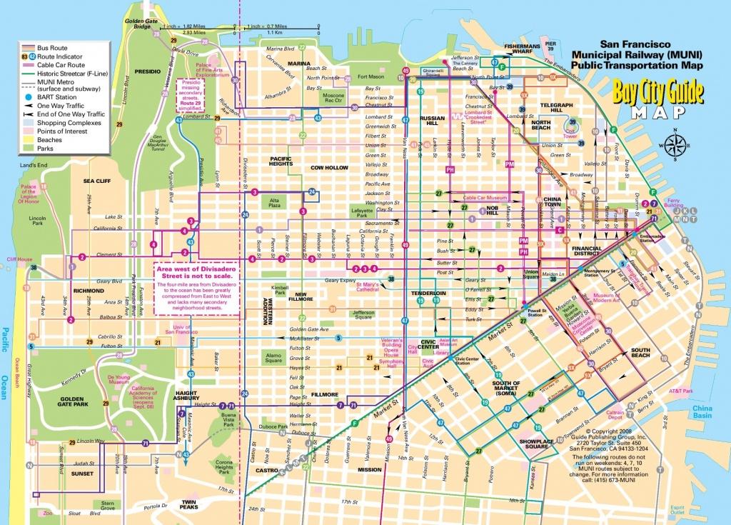 San Francisco Maps | California, U.s. | Maps Of San Francisco - Printable Map Of San Francisco Downtown