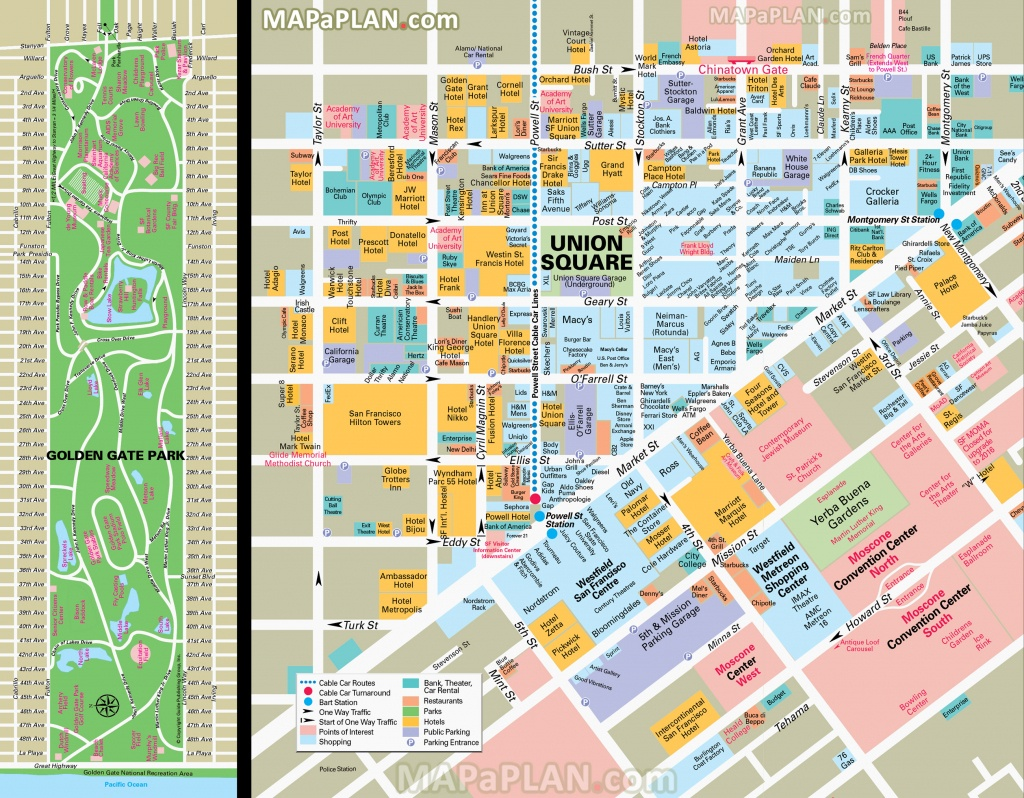San Francisco Maps - Top Tourist Attractions - Free, Printable City - Map Of San Francisco Attractions Printable