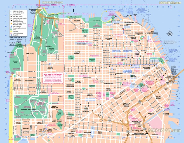 Printable Map Of San Francisco Tourist Attractions