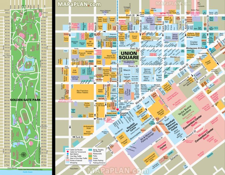 San Francisco Tourist Map Printable