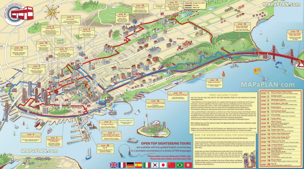 San Francisco Maps - Top Tourist Attractions - Free, Printable City - San Francisco Tourist Map Printable